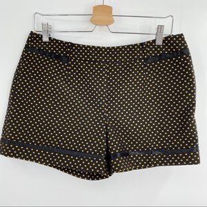 Ted Baker black and gold polkadot shorts NWT